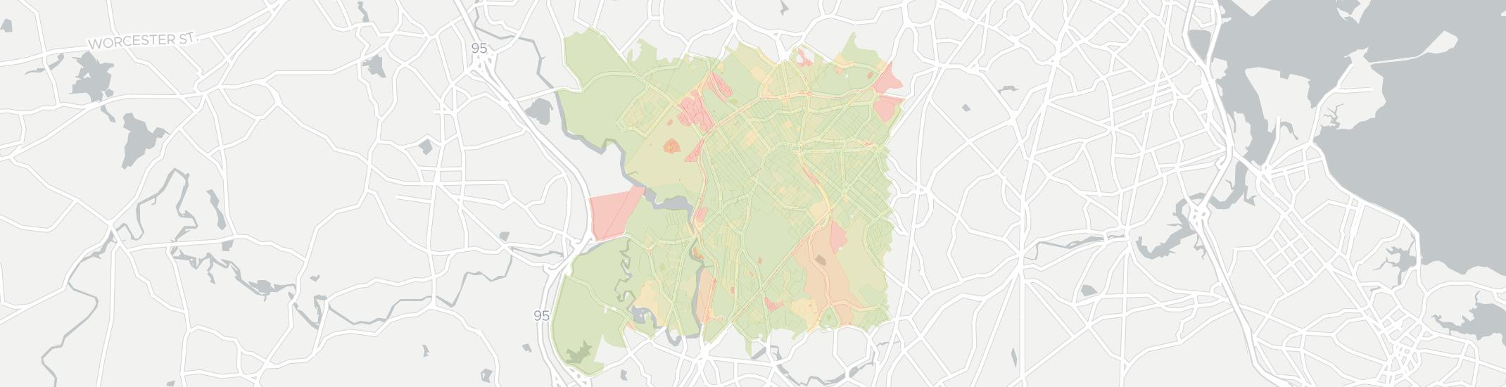 West Roxbury Internet Competition Map. Click for interactive map.