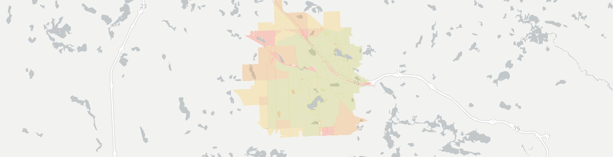 Davisburg Internet Competition Map. Click for interactive map.