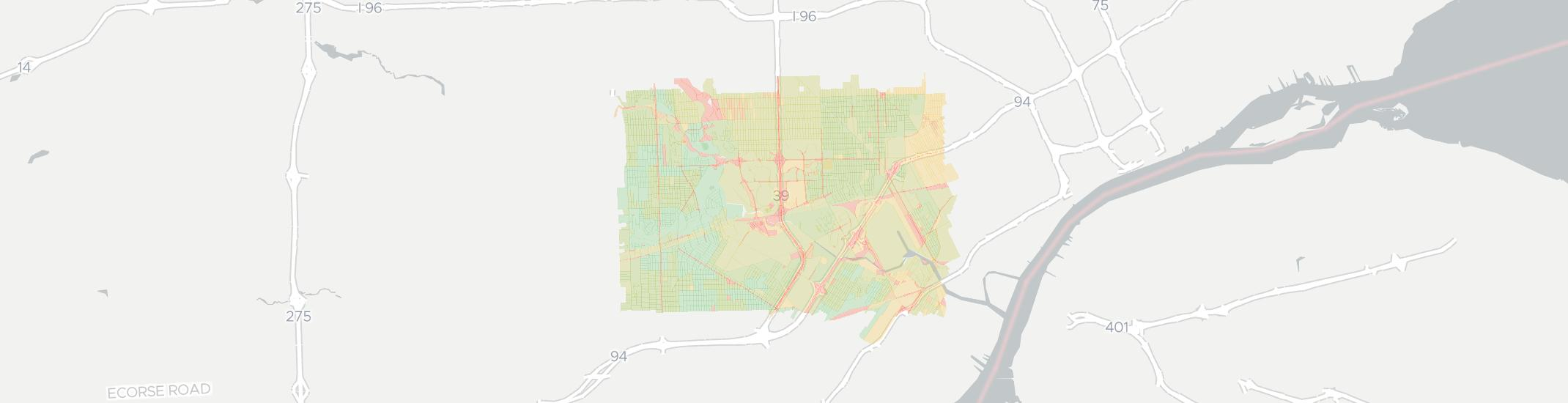 Dearborn Internet Competition Map. Click for interactive map.