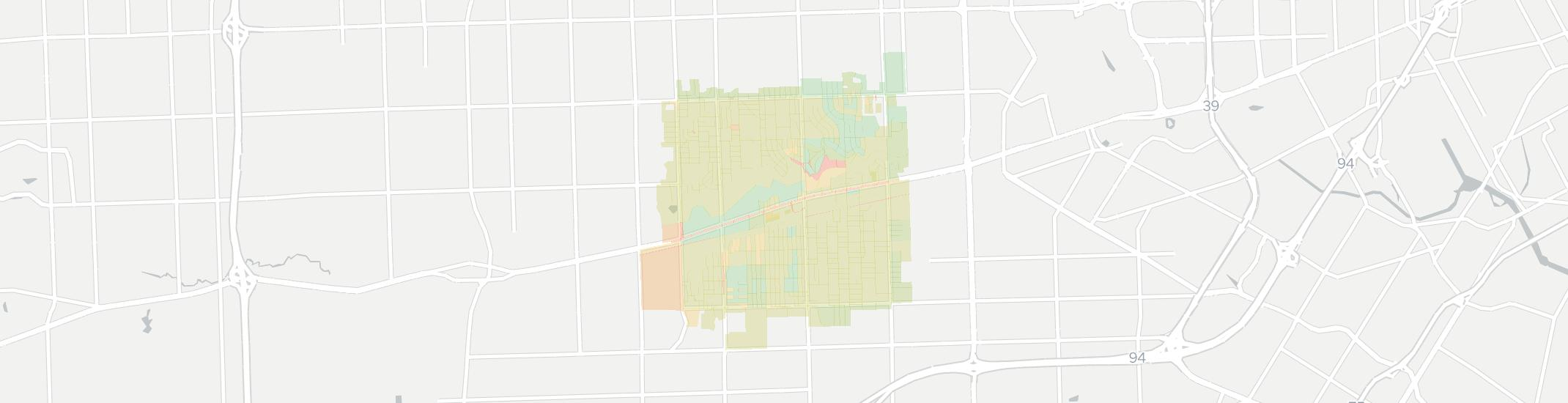 Inkster Internet Competition Map. Click for interactive map.