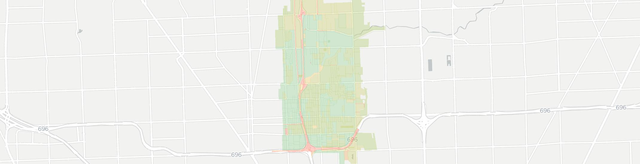 Madison Heights Internet Competition Map. Click for interactive map.