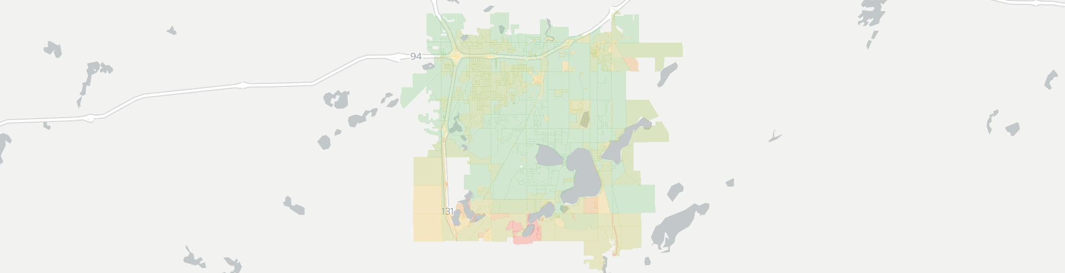 Portage Internet Competition Map. Click for interactive map.