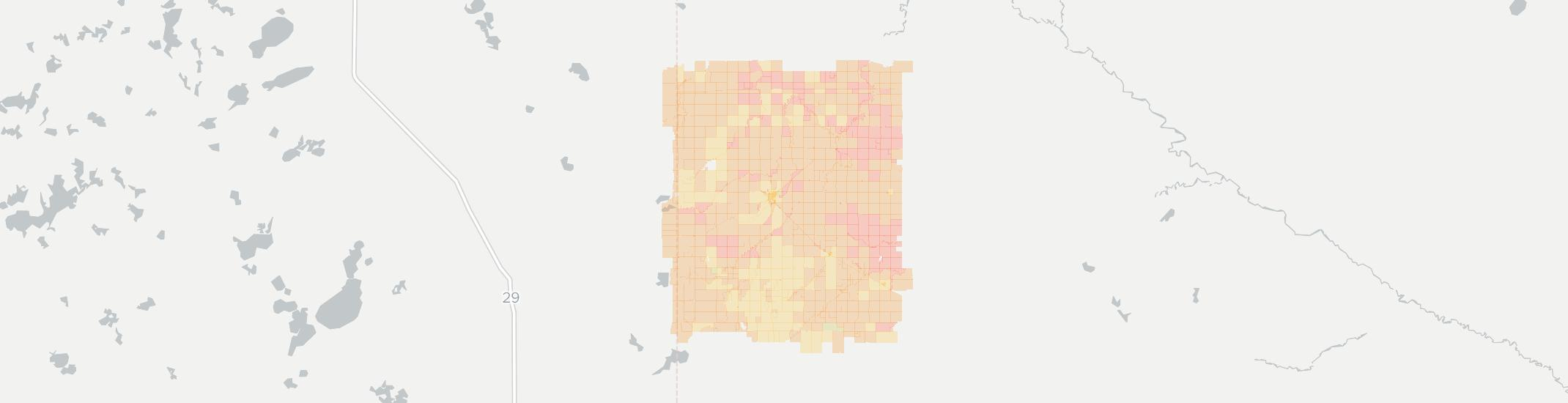 Canby Internet Competition Map. Click for interactive map.
