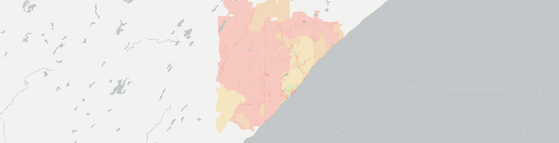 Silver Bay Internet Competition Map. Click for interactive map.
