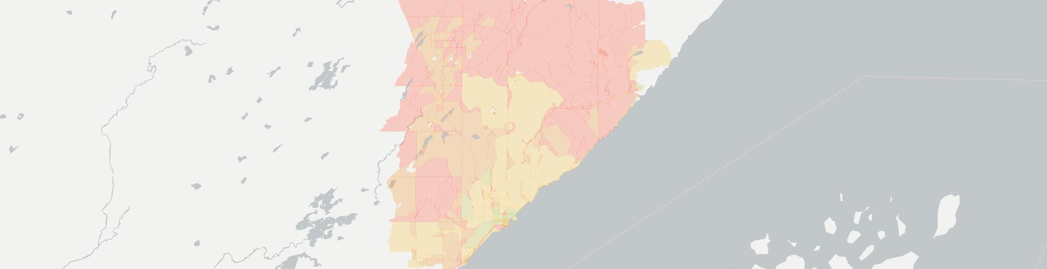 Two Harbors Internet Competition Map. Click for interactive map.