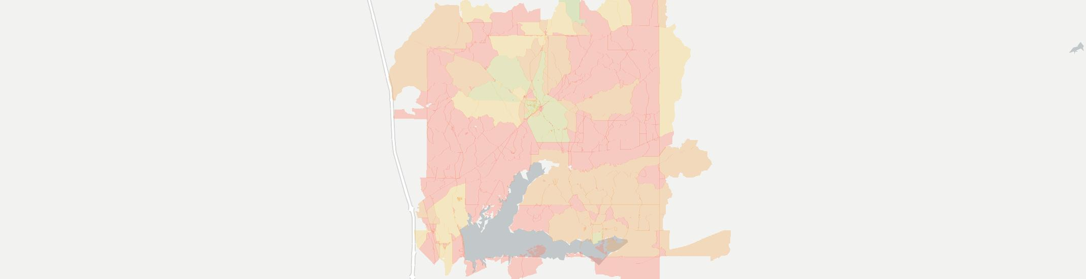 Coffeeville Internet Competition Map. Click for interactive map.
