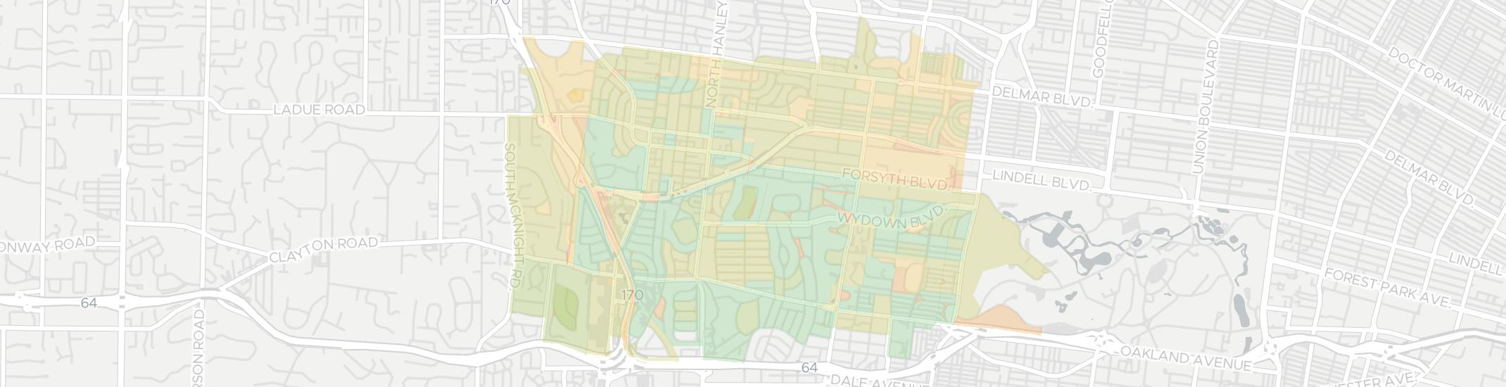 Clayton Internet Competition Map. Click for interactive map.