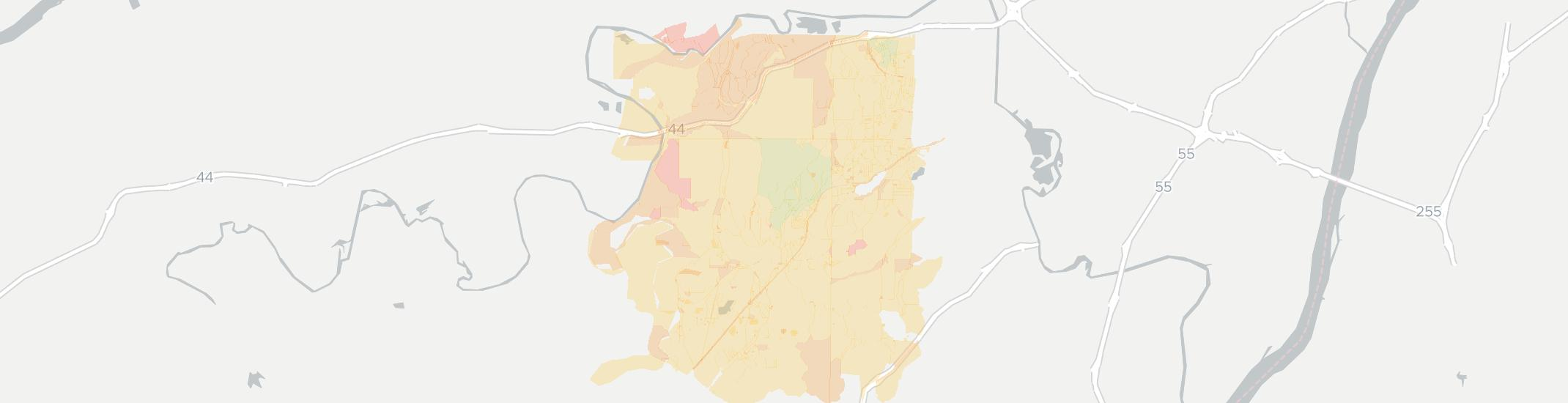 High Ridge Internet Competition Map. Click for interactive map.