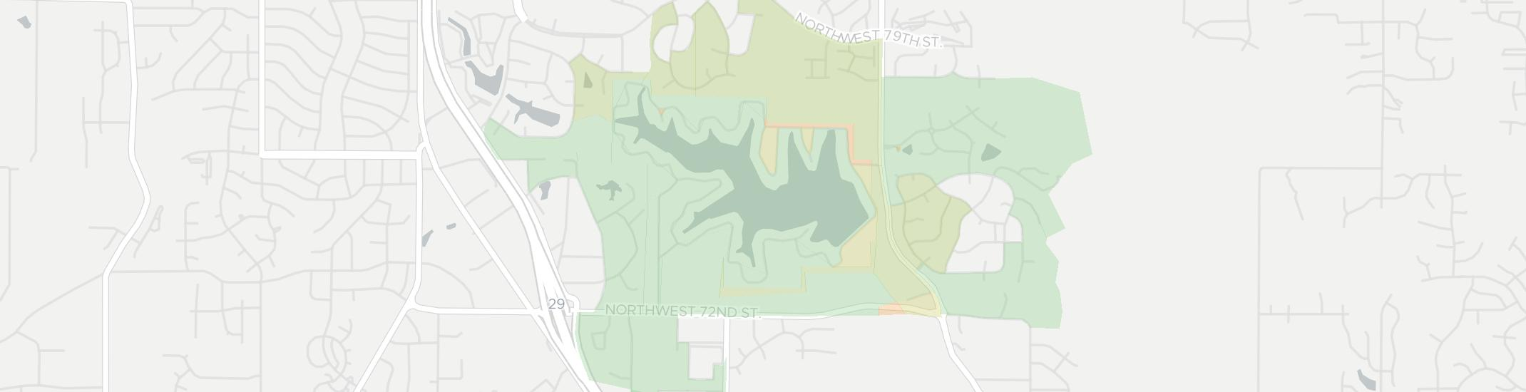 Lake Waukomis Internet Competition Map. Click for interactive map.