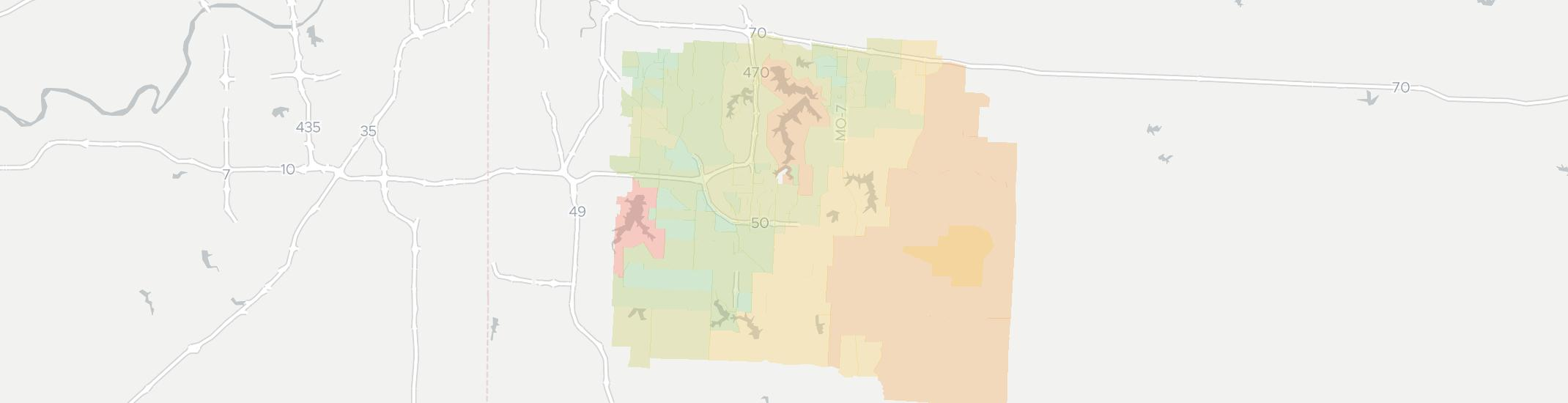 Lees Summit Internet Competition Map. Click for interactive map.