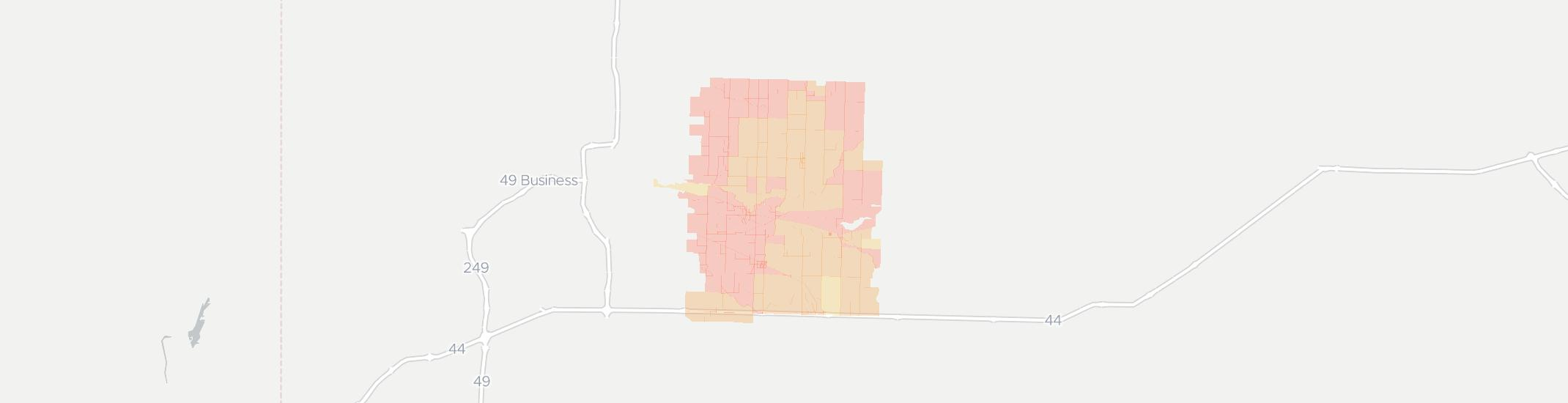Reeds Internet Competition Map. Click for interactive map.