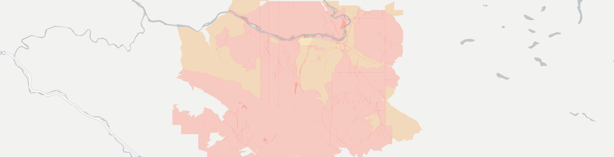 Dixon Internet Competition Map. Click for interactive map.