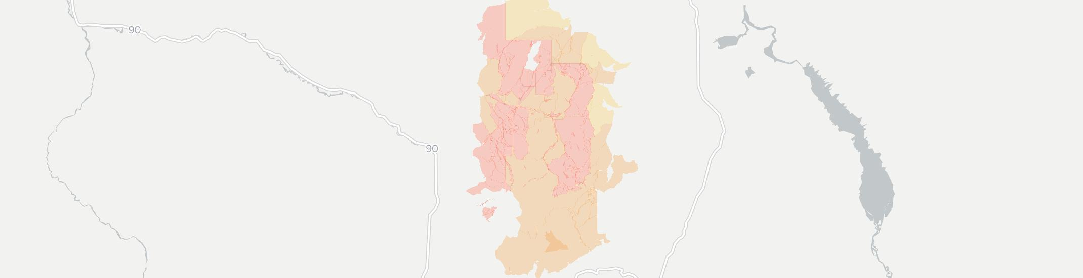 Elliston Internet Competition Map. Click for interactive map.