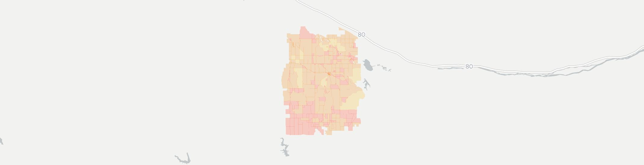 Eustis Internet Competition Map. Click for interactive map.