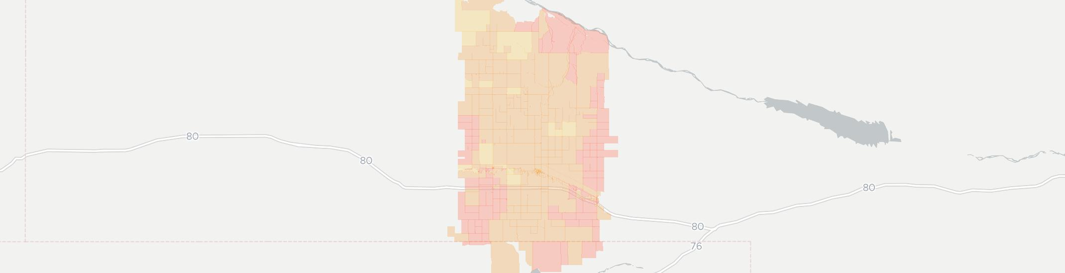 Lodgepole Internet Competition Map. Click for interactive map.
