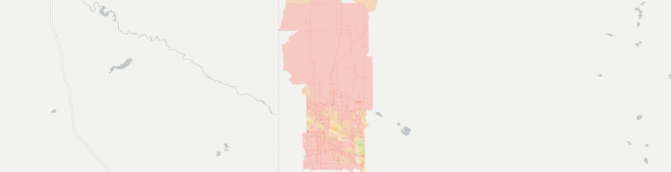 Mitchell Internet Competition Map. Click for interactive map.