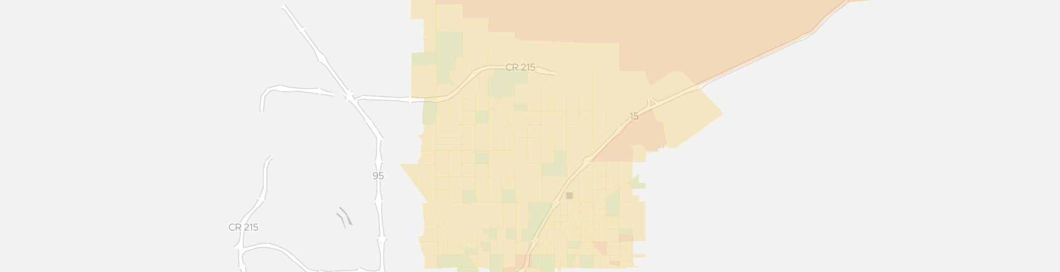 North Las Vegas Internet Competition Map. Click for interactive map.