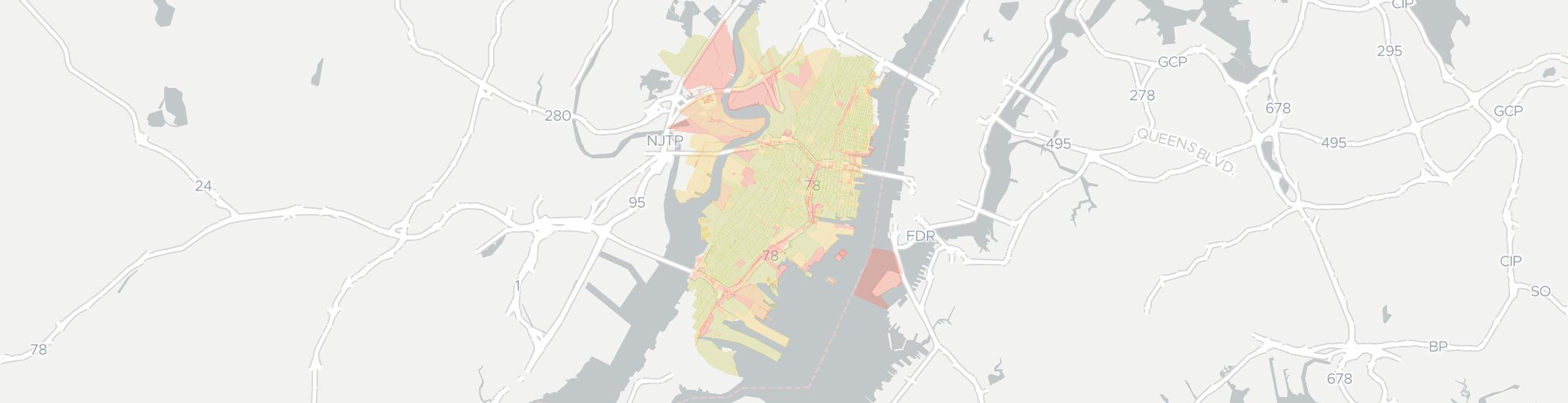 Jersey City Internet Competition Map. Click for interactive map.
