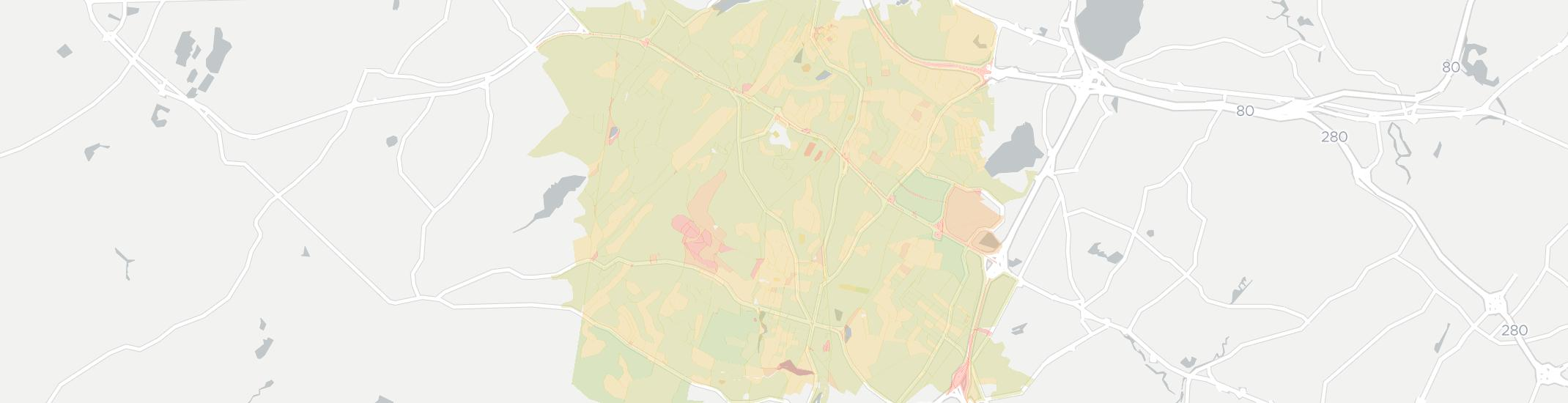 Morris Plains Internet Competition Map. Click for interactive map.