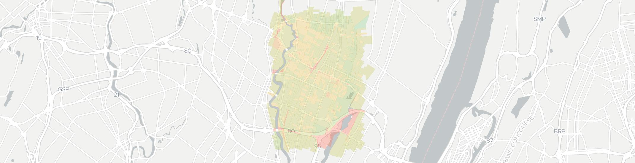 Teaneck Internet Competition Map. Click for interactive map.