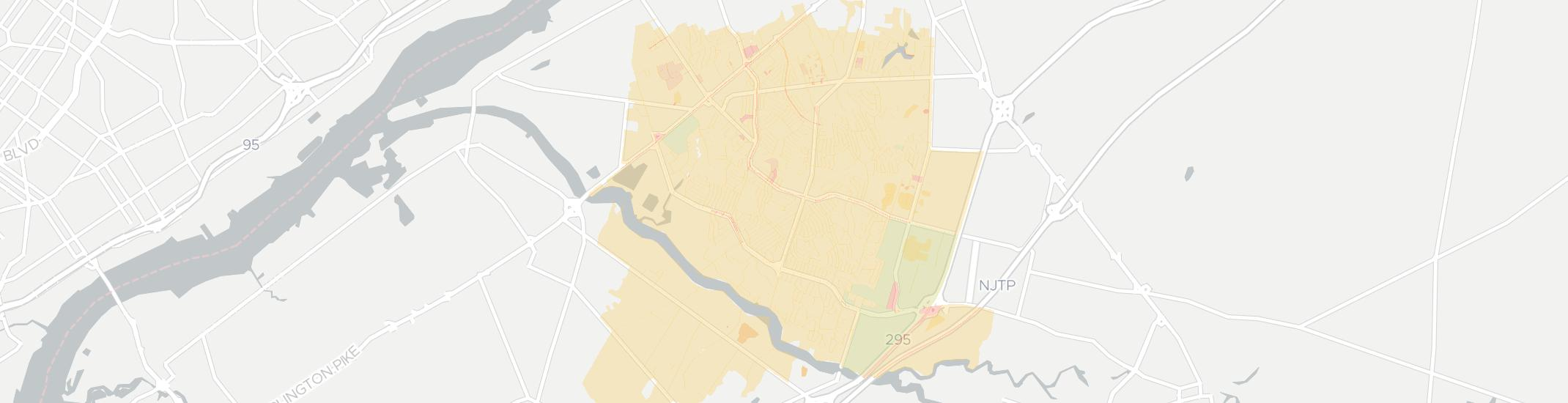 Willingboro Internet Competition Map. Click for interactive map.