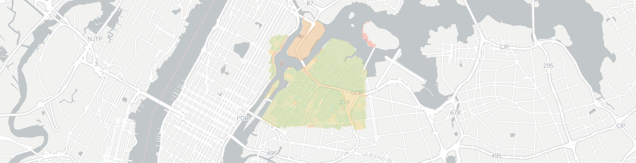 Astoria Internet Competition Map. Click for interactive map.