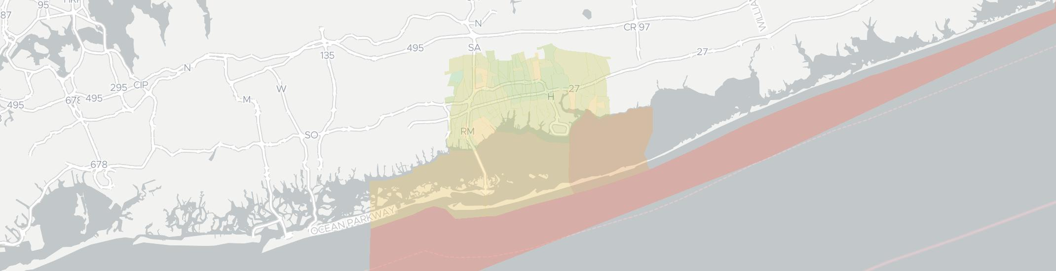 Bay Shore Internet Competition Map. Click for interactive map.