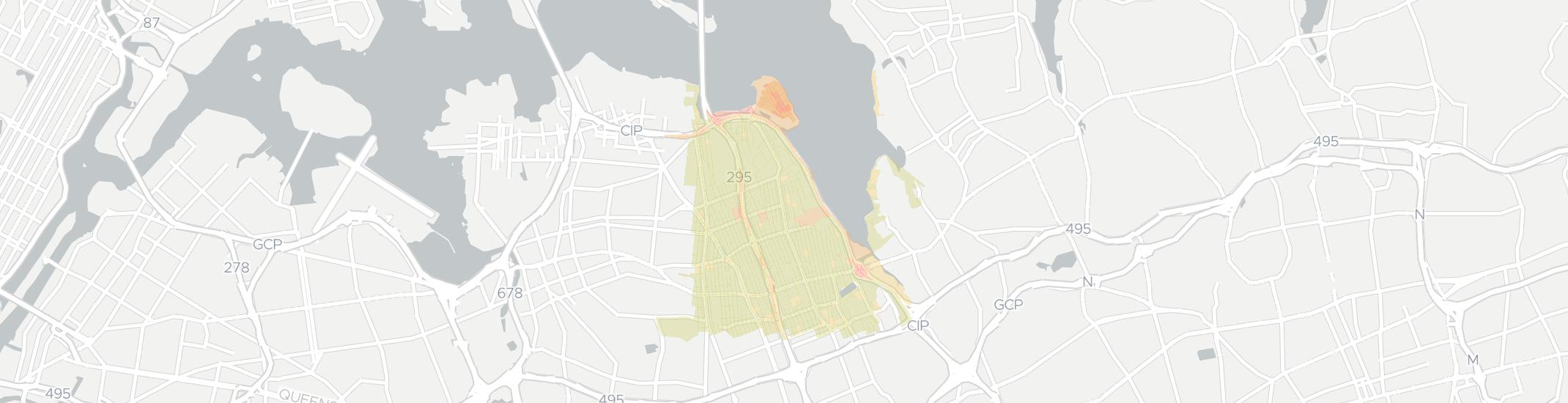 Bayside Internet Competition Map. Click for interactive map.