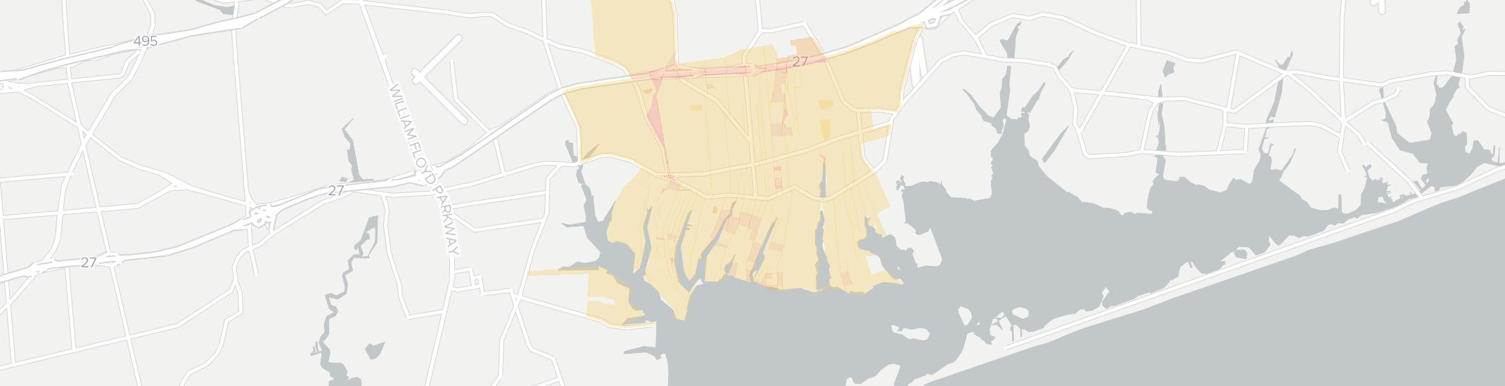 Center Moriches Internet Competition Map. Click for interactive map.