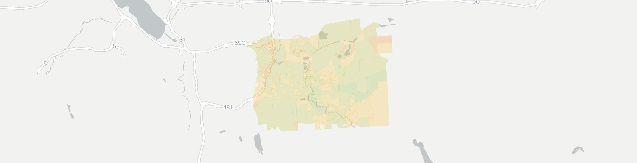 Fayetteville Internet Competition Map. Click for interactive map.