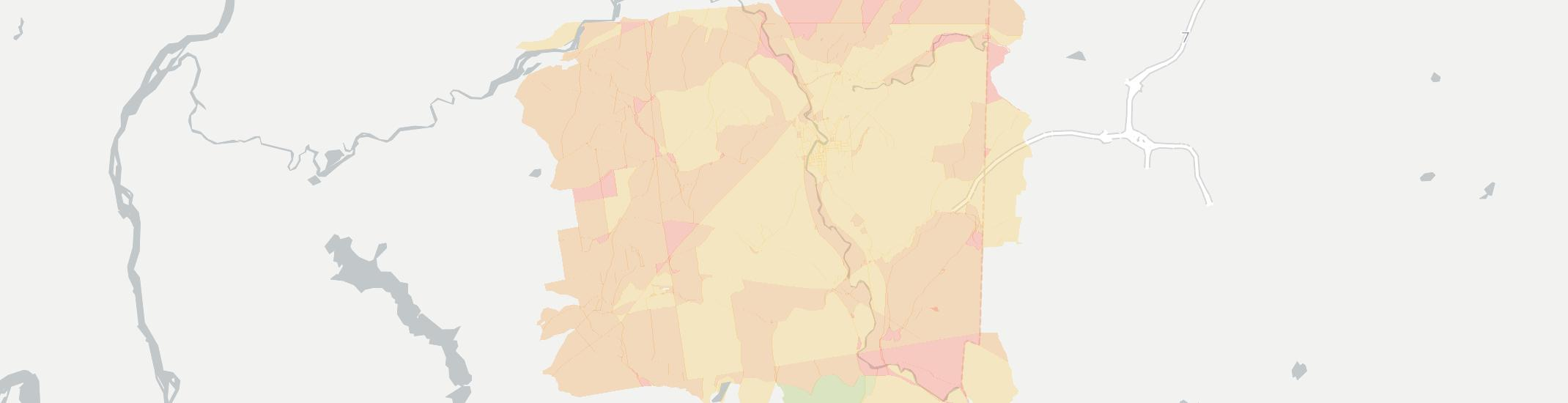Hoosick Falls Internet Competition Map. Click for interactive map.