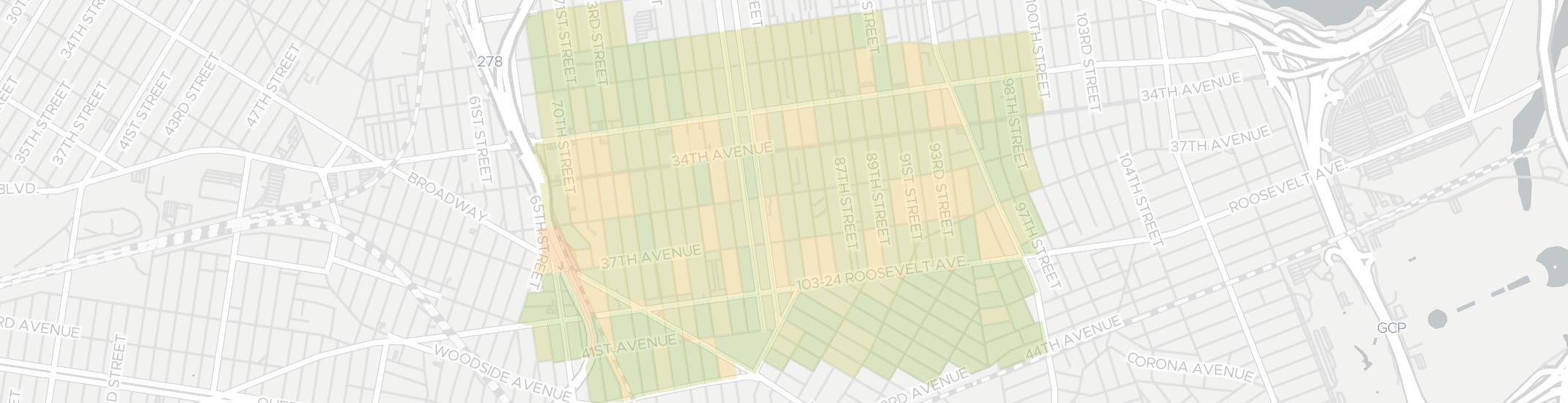 Jackson Heights Internet Competition Map. Click for interactive map.
