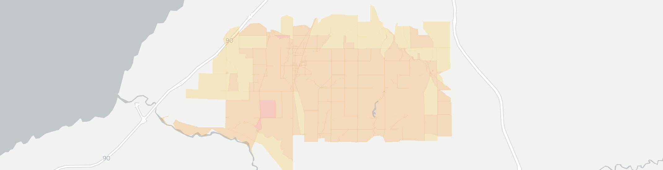 North Collins Internet Competition Map. Click for interactive map.