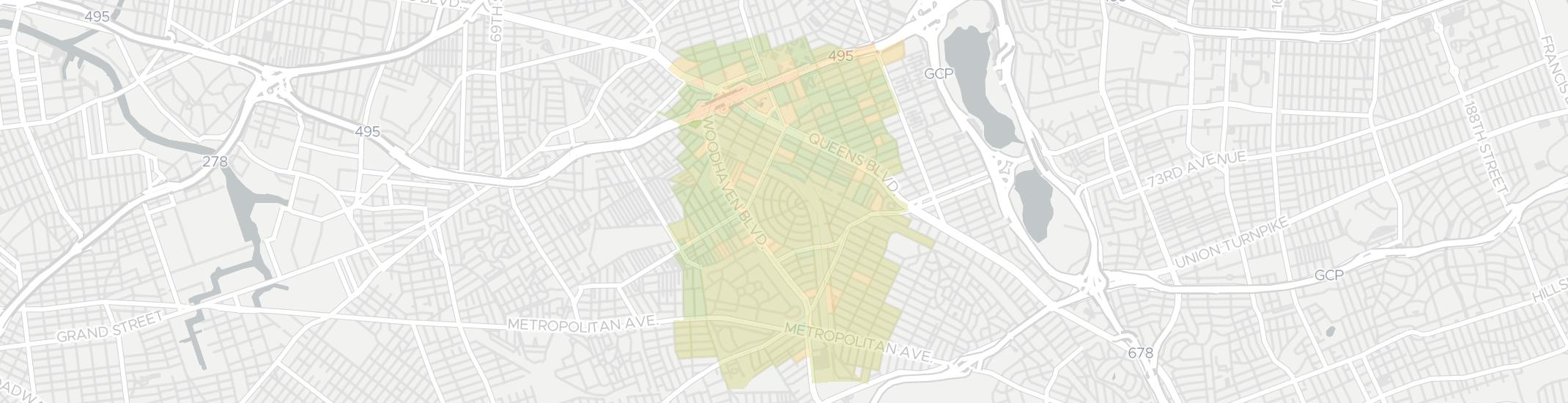 Rego Park Internet Competition Map. Click for interactive map.