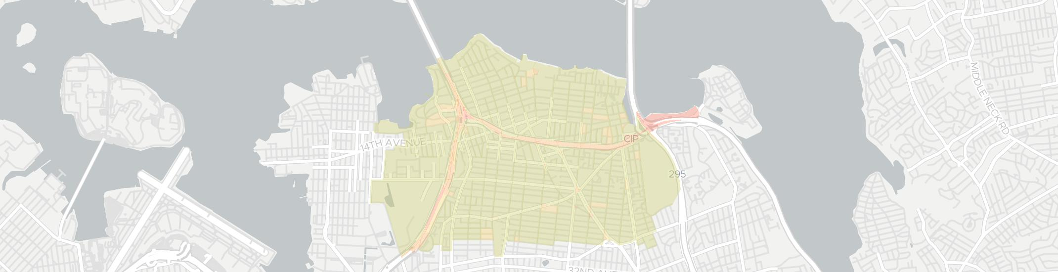 Whitestone Internet Competition Map. Click for interactive map.