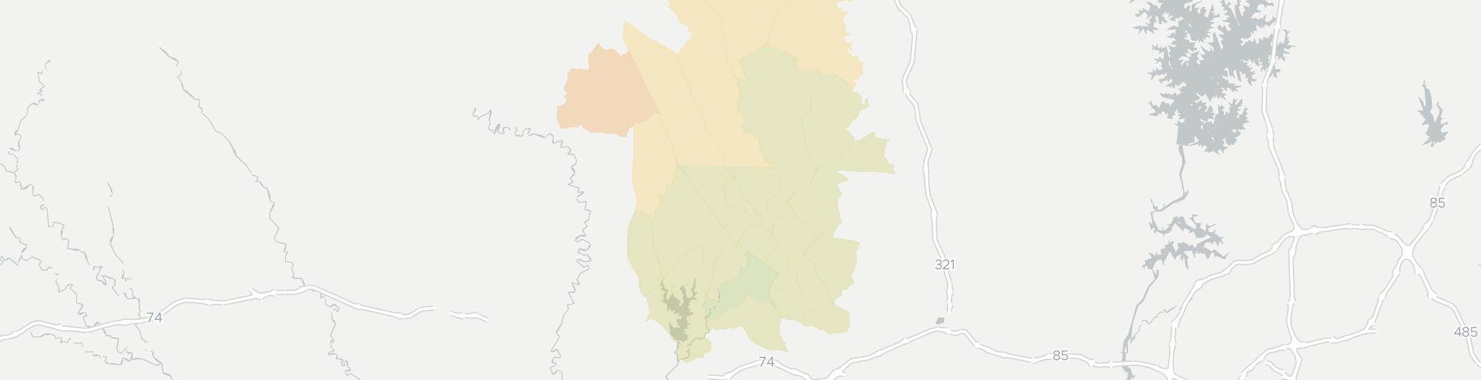 Cherryville Internet Competition Map. Click for interactive map.