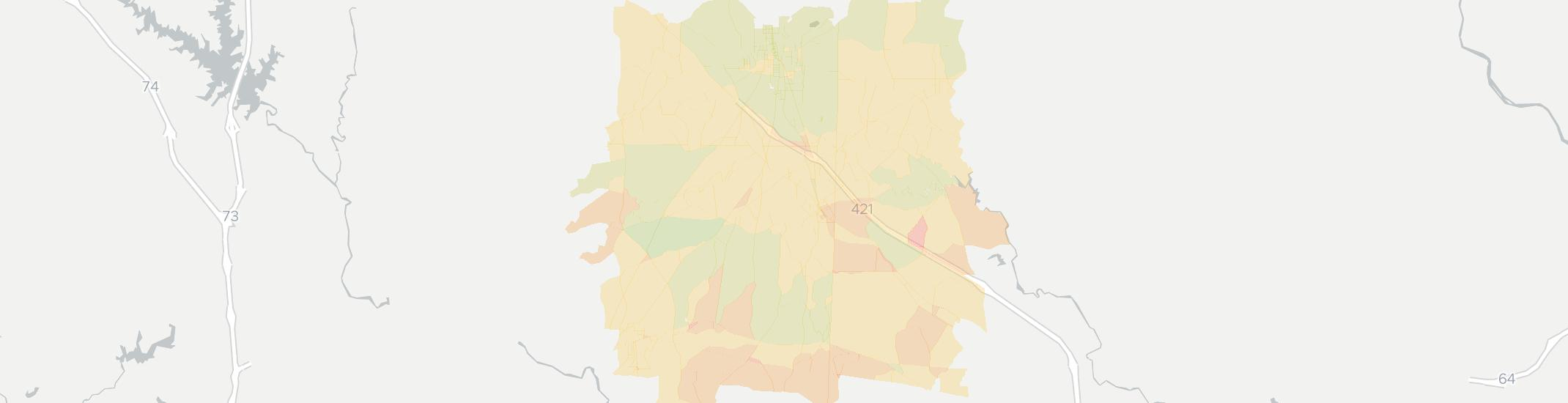 Staley Internet Competition Map. Click for interactive map.