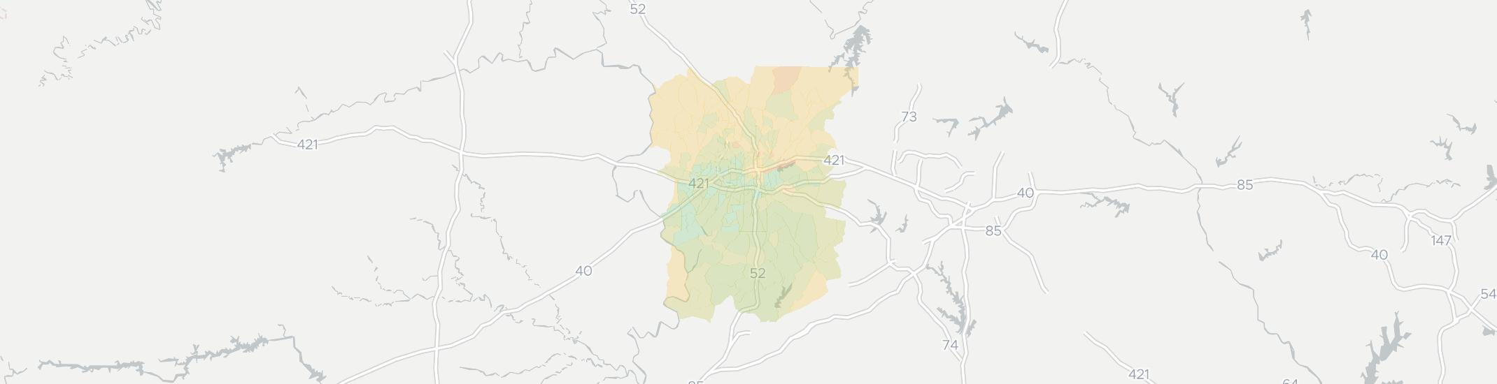 Winston Salem Internet Competition Map. Click for interactive map.