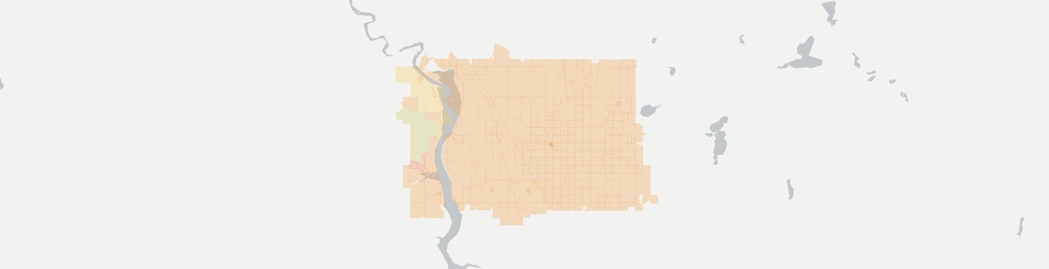 Hazelton Internet Competition Map. Click for interactive map.