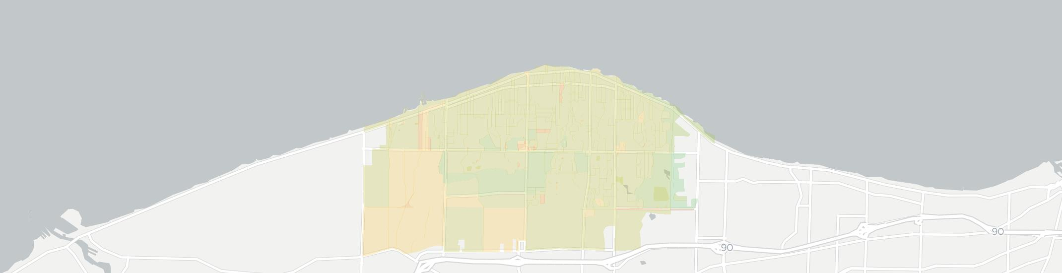 Avon Lake Internet Competition Map. Click for interactive map.