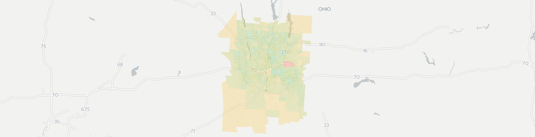 Columbus Internet Competition Map. Click for interactive map.