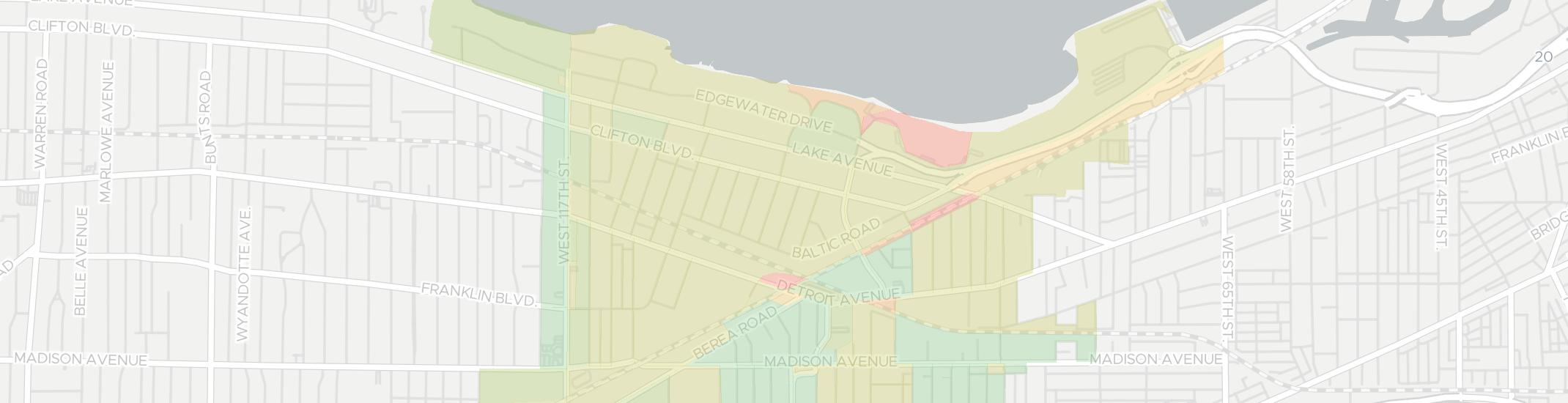 Edgewater Internet Competition Map. Click for interactive map.