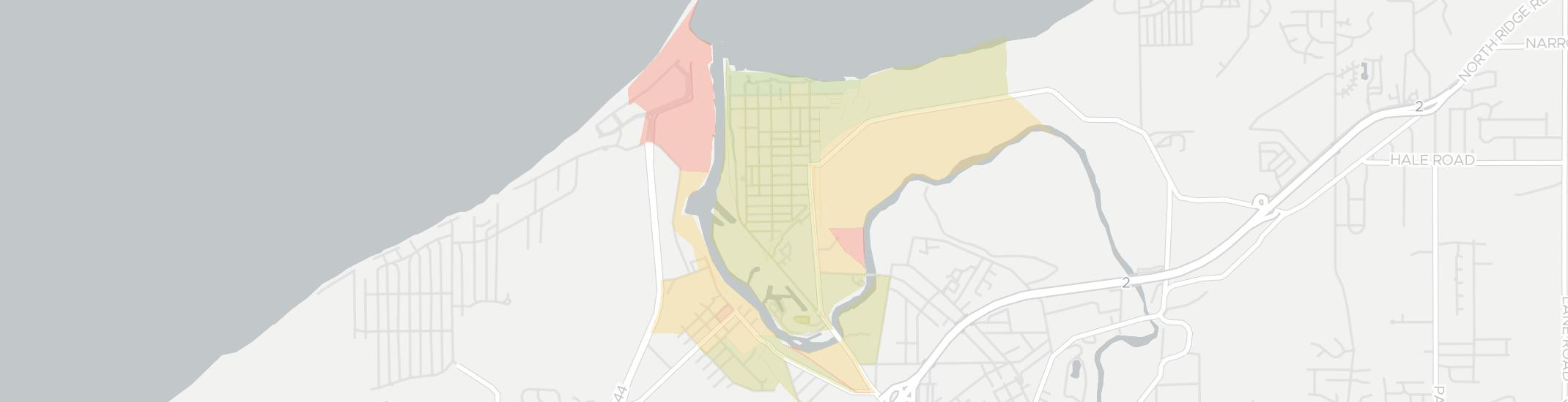 Fairport Harbor Internet Competition Map. Click for interactive map.