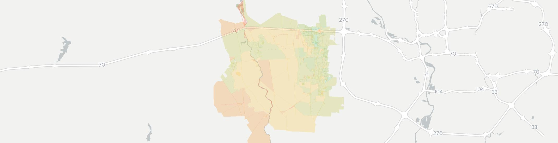 Galloway Internet Competition Map. Click for interactive map.