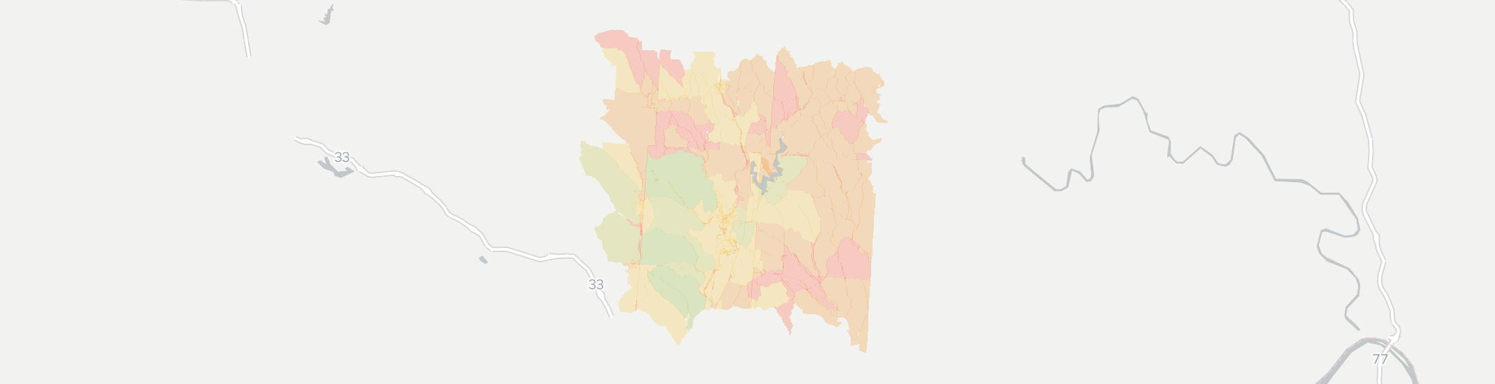 Glouster Internet Competition Map. Click for interactive map.
