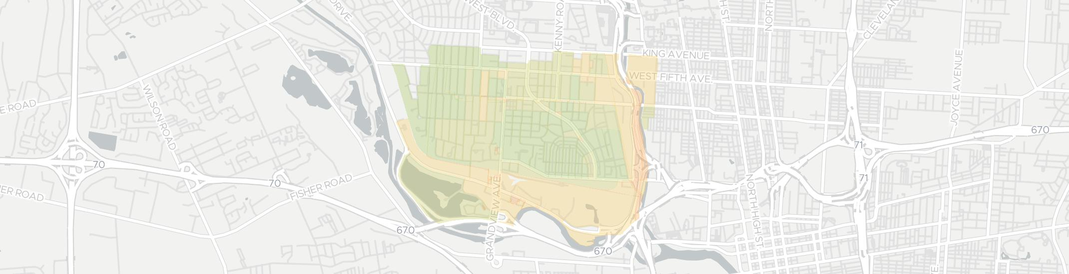 Grandview Heights Internet Competition Map. Click for interactive map.