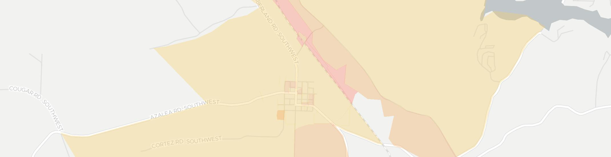 Leesville Internet Competition Map. Click for interactive map.