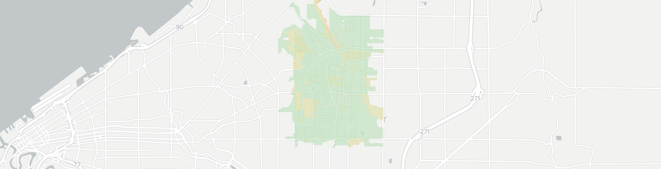 South Euclid Internet Competition Map. Click for interactive map.