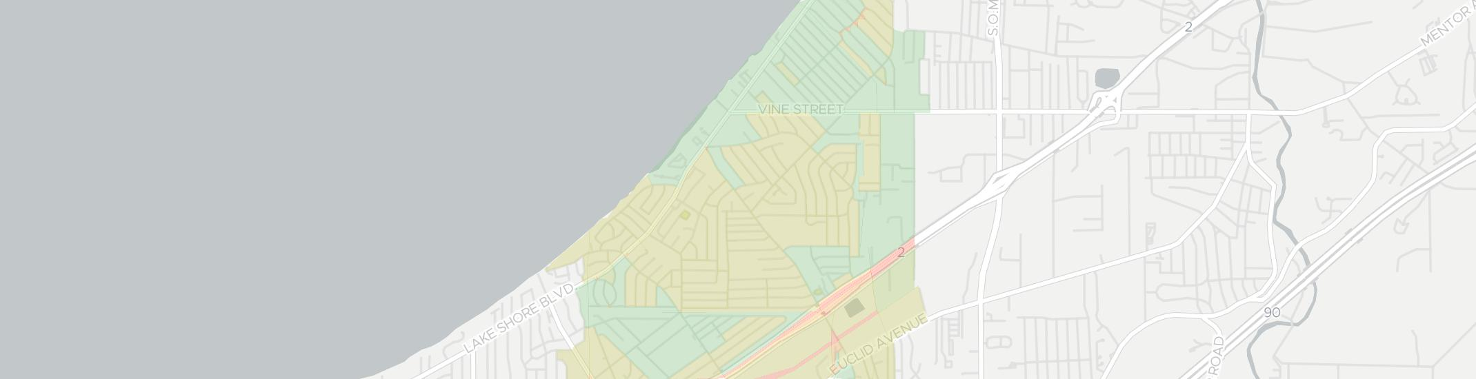 Willowick Internet Competition Map. Click for interactive map.