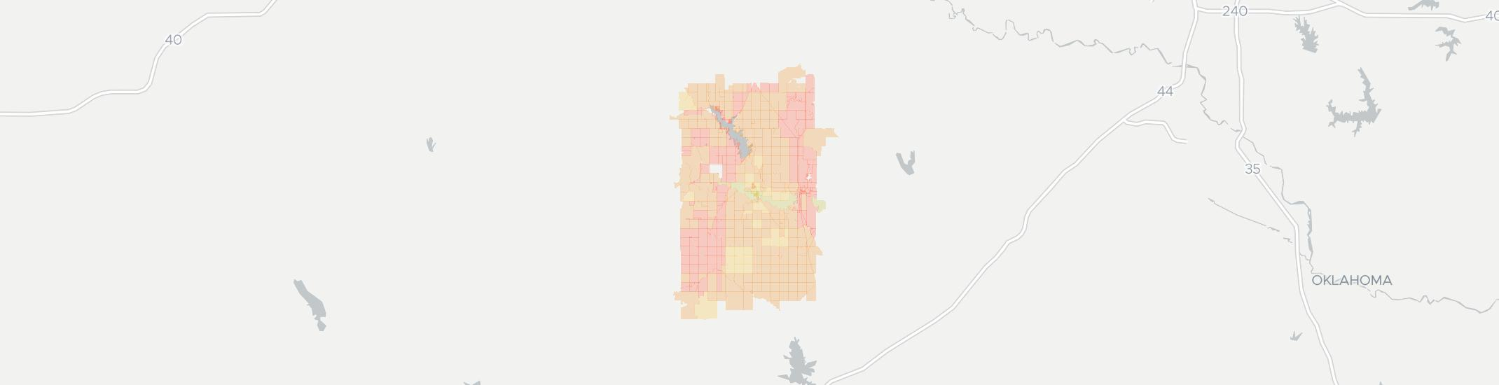 Fort Cobb Internet Competition Map. Click for interactive map.